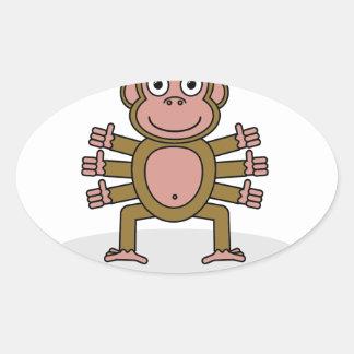 Spider Monkey Oval Sticker