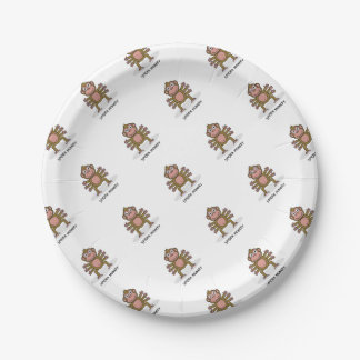Spider Monkey Paper Plate