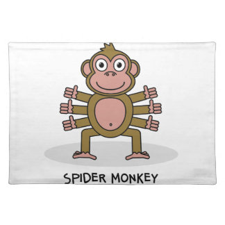 Spider Monkey Placemat
