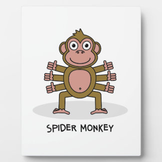 Spider Monkey Plaque