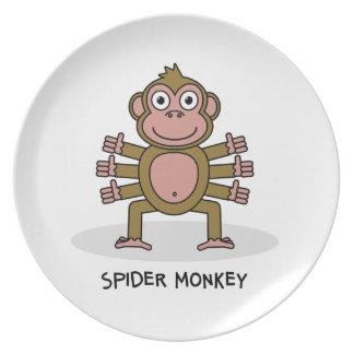 Spider Monkey Plate