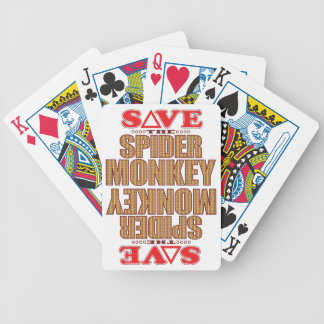 Spider Monkey Save Bicycle Playing Cards