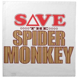 Spider Monkey Save Napkin