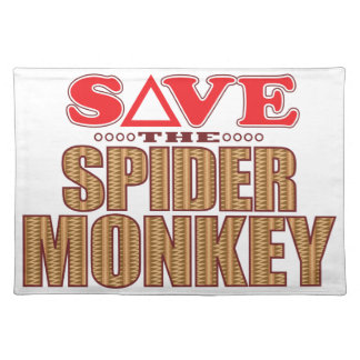 Spider Monkey Save Placemat