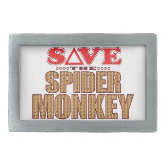 Spider Monkey Save Rectangular Belt Buckles