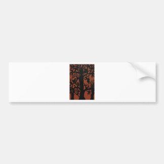 Spider monkey tree bumper sticker