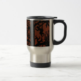 Spider monkey tree travel mug