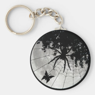 Spider Moon and Moth Key Chains