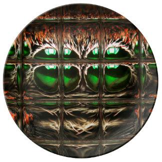 Spider mosaic porcelain plates