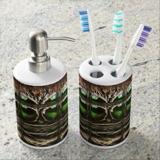 Spider mosaic toothbrush holder