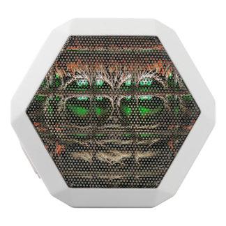 Spider mosaic white bluetooth speaker