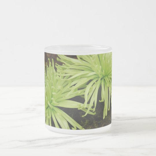 Spider Mum Frosted Glass Coffee Mug