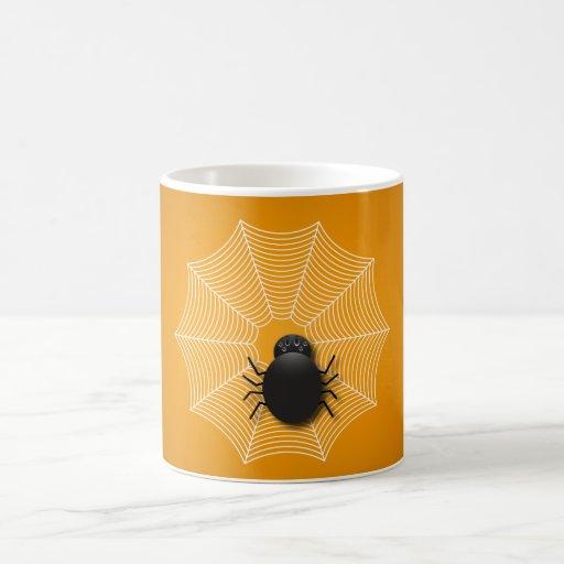 Spider on a Web Coffee Mugs