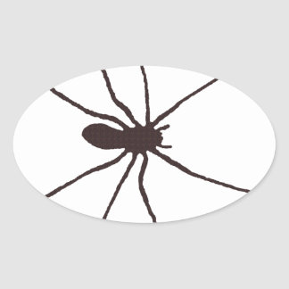 Spider Oval Sticker