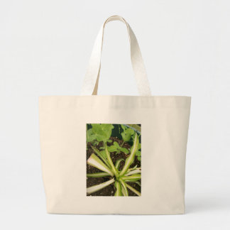Spider plant and pea vines tote bags