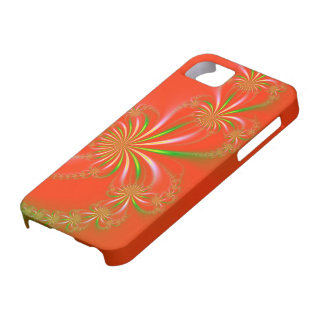 Spider Plant on Orange Red Fractal iPhone 5 Cover