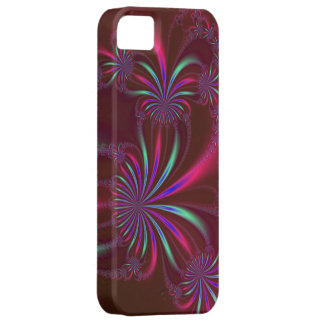 Spider Plant on Red Fractal iPhone 5 iPhone 5 Cases