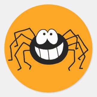 Spider Round Sticker