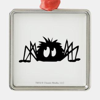 Spider Silver-Colored Square Decoration