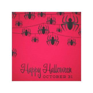 Spider string canvas print