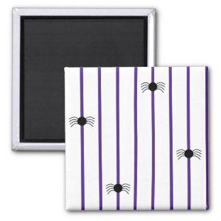 Spider Stripe Purple Magnet