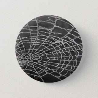 Spider Web 6 Cm Round Badge