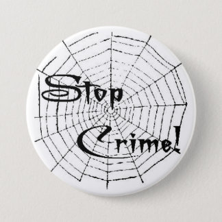 Spider web 7.5 cm round badge