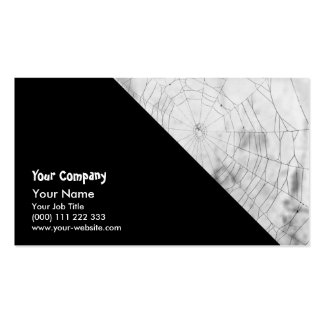 Spider web business card templates