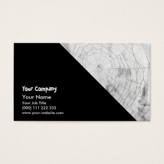 Spider web business card