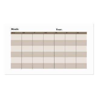 Spider web business cards with calendar back