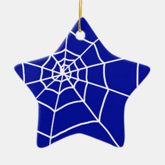 Spider Web Ceramic Star Decoration