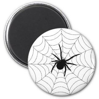 Spider Web Design 6 Cm Round Magnet