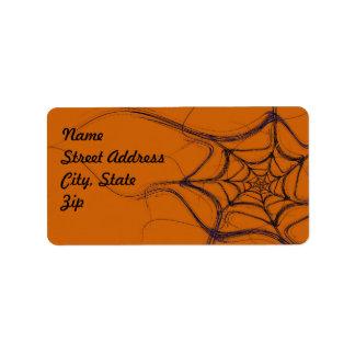 Spider Web Fractal Background Address Sticker