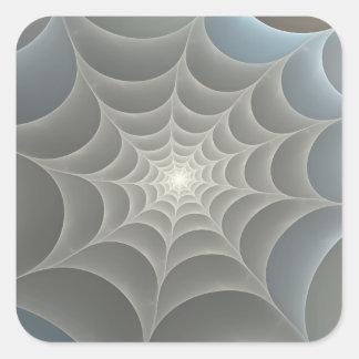 Spider Web Fractal Square Sticker