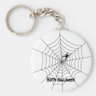 Spider Web Halloween Keychain