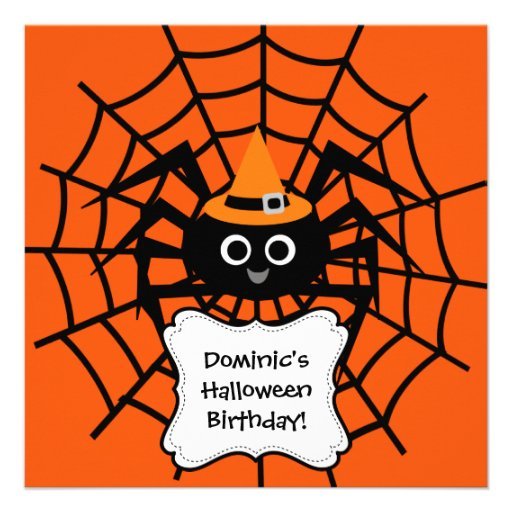 Spider Web Halloween Party Invitation