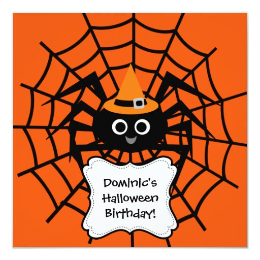 Spider Web Halloween Party Invitation 13 Cm X 13 Cm Square Invitation Card