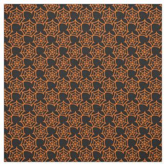 spider web halloween pattern fabric