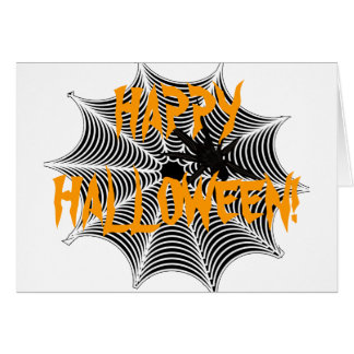 Spider Web Happy Halloween Greeting Card