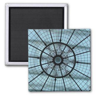 Spider web square magnet