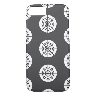 Spider web on grey background Halloween iPhone 7 Case