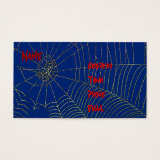 Spider Web Personal Business Card