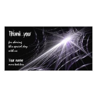 Spider Web Custom Photo Card