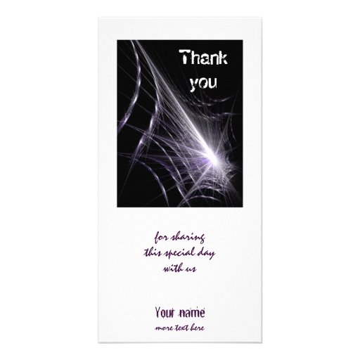 Spider Web Customized Photo Card