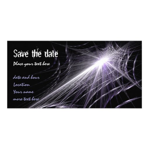 Spider Web Photo Card Template