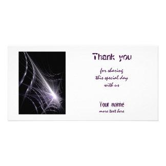 Spider Web Customised Photo Card
