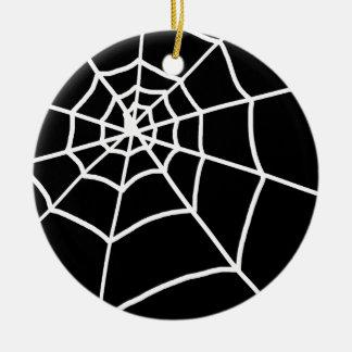 Spider Web Round Ceramic Decoration
