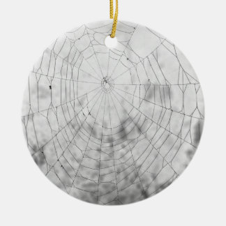 Spider web round ceramic decoration