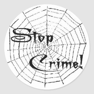 Spider web round sticker