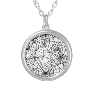 Spider Web Silver Plated Necklace